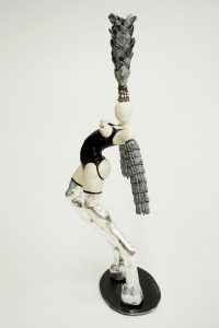 bigboots, silver. porcelain