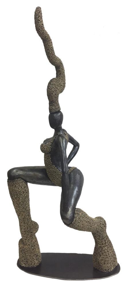 ceramic sculpture flowers
