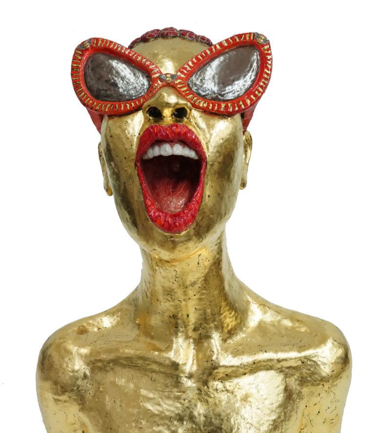 ceramic sculpture goldleaf